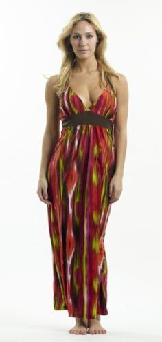 Halter Top Maxi Dress / Coverup with Empire Waist in Silky 'ITY' Fabric in Sizes Small - 4x: http://www.amazon.com/Halter-Dress-Coverup-Empire-Fabric/dp/B00756V0H4/?tag=588bincom-20