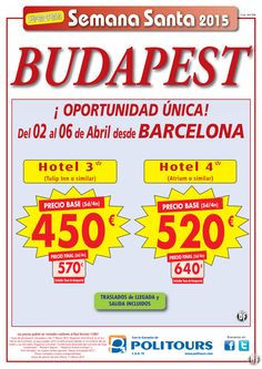 "BUDAPEST -Semana Santa """" Oportunidad Unica"""" salida. 02/04 desde BCN (5d/4n) p.f. 570€ ultimo minuto - http://zocotours.com/budapest-semana-santa-oportunidad-unica-salida-0204-desde-bcn-5d4n-p-f-570e-ultimo-minuto-4/"