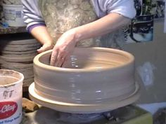 Prairie Fire Pottery  |  Throwing Large Bowl, Part 2.