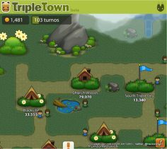 triple town - juego en facebook, Android y Google+ - records en mapa