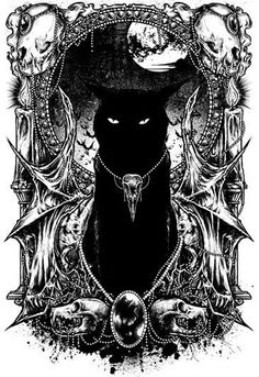 """xombiedirge: """" Le Chat Noir by GODMACHINE / Tumblr / Twitter / Blog / Store T-shirts available from Nine Lives / Tumblr, HERE. """""""