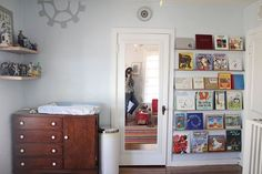 Mom nails strips of baseboard behind a bedroom door. The reason why? This is awesome!