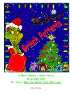This is an independent math center or math journal that goes along with Dr. Seuss' book, How The Grinch Stole Christmas. The students create assign...