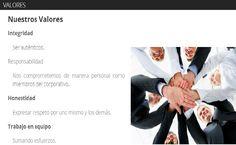 Conoce los valores que rigen nuestra empresa, a nuestro personal  y los servicios que te ofrecemos.