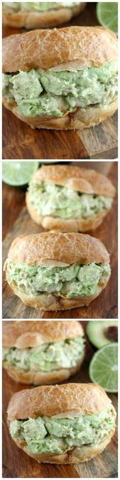 Avocado Chicken Salad - This avocado chicken salad is perfect for avocado lovers! Serve this on a whole wheat bun or wrap for a lighter option.