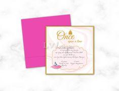 Baptism Invitations, Princess, Princesses