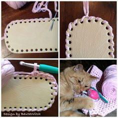 Making of a bautawitch pink Crochet Chart, Diy Crochet, Crochet Baby, Crochet Purse Patterns, Crochet Shoes, Crochet Handbags, Crochet Purses, Crochet Basket Tutorial, Crochet T Shirts
