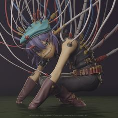This is a fan art sculpture inspired by the visual style of the popular British music band Gorillaz. Modeling and render - Soltus Kirill. Cyborg Noodle, Gorillaz Noodle, Gorillaz Plastic Beach, Gorillaz Fan Art, Jamie Hewlett, Tea Art, Music Bands, Retro, Music Artists