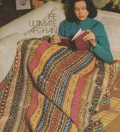 Crochet Afghan Pattern, Crochet Pattern, Afghan Crochet Pattern, Instant Download, 1970s