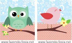 Bird and Owl Free Printable Mini Kit.