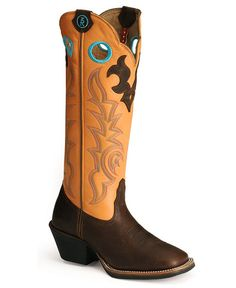 Tony Lama 3R Series Buckaroo Western Cowgirl Boots - Square Toe