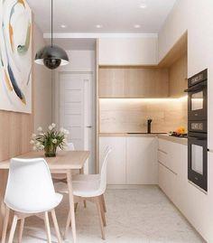 Simple Kitchen Design, Kitchen Room Design, Home Decor Kitchen, Interior Design Kitchen, Kitchen Hacks, Small Kitchen Interiors, Kitchen Ideas For Apartments, Very Small Kitchen Design, Small Kitchen Organization