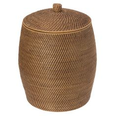 Found it at Wayfair - Beehive Rattan Laundry Hamper with Cotton Liner