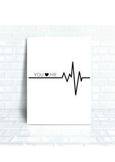 IMPRESSION --> Phrase You Love Me sur fond Blanc  Il sagit dune impression qui peut être téléchargée et imprimée à la maison ou chez un