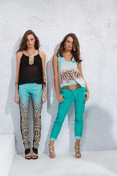 Animal print com degradê de tons  #animalprint #turquoise