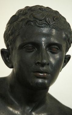 Head of Bronze statue of Hermes at rest. Found at Pompeii by Stone.Rome, via Flickr