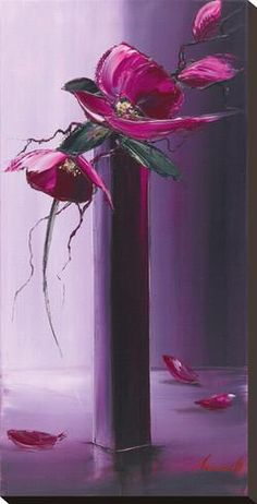 Tableau sur toile 'Elegance En Mauve II' par Olivier Tramoni - Art.fr