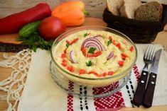 Salată de vinete cu dovlecel și ardei copt - Rețete Merișor Roasted Eggplant Dip, Everyday Prayers, Hummus, Food To Make, Vegan, Paste, Ethnic Recipes, Leafy Salad, Summer Salad Recipes