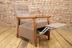 1960s TV Relax Armchair - Easy Chair - Wing chair - Recliner. wonderful armchair with a great looking frame. You can fold this chair down into a relax position with your own body weight. There are traces of use on the fabric. | eBay!