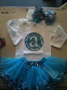 custom onesies and tees. jumBOWS. Tutu's @ Zandy Zoo's (find us on facebook) Located in Texas