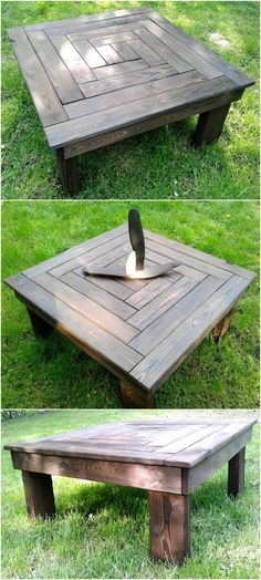 pallets outdoor coffee table