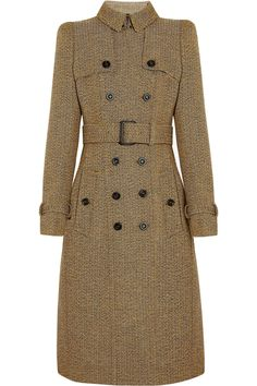 Anyone want to drop $4000 for this? Man, I'd almost be tempted to!   Burberry Prorsum | Wool-tweed trench coat | NET-A-PORTER.COM