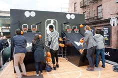 AOL Access NewFront: Guests were able to engage with the brand's products and partners through interactive activations, such as a free-throw game from the N.B.A.