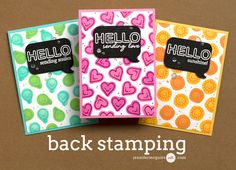 Back Stamping Video by Jennifer McGuire Ink