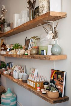 {field trip} twig & twine... - Oh Joy!  kitchen shelves