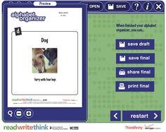 Free Technology for Teachers: Kids Can Create Alphabet Books With Alphabet Organizer
