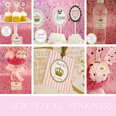 Juicy Couture Inspired Happy Birthday Pink and by MyInvitationBar