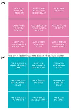 Vill du inte klippa i boken? - Bonusmaterial - Föräldrar Majema - köp läromedel och kalendrar för lärare online