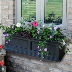 If you've suffered wilting plants in your windowsill season after season, make the switch to this window box.