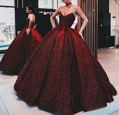 A-Line ELegant Gorgeous Ball Gown, Strapless Modest High Quality Floor-Length Popular Prom Dresses Elegant Dresses, Pretty Dresses, Formal Dresses, Crazy Dresses, Classy Gowns, Dark Red Dresses, Glamorous Dresses, Red Ball Gowns, Red Gowns