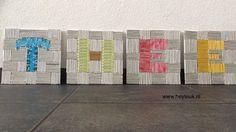 Thee, vierluik gemaakt van gerecycled papier en theezakjes