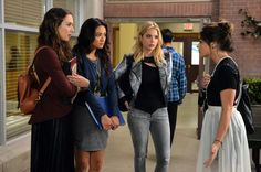 Pin for Later: The Killer Outfits on Pretty Little Liars Will Haunt You All Week Long Season 5 No really — we can't stop staring at that skirt.  Source: ABC Family
