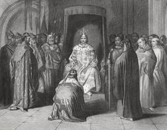King Richard II knighting the kings of Connaught, Ulster, Thomond and Leinster, in 1394. Drawn by H Warren, from History of Ireland, published c1854. (Photo by Universal History Archive/UIG via Getty Images)