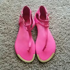 Hot pink Madden Girl sandals Size 8, only worn once Madden Girl Shoes Sandals