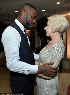 Brits abroad! Idris Elba enjoyed a cosy chat with veteran actress Helen Mirren as they celebrated the start of awards season in style at the SAGs afterparty