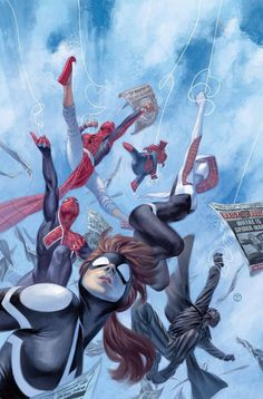 "league-of-extraordinarycomics: ""Spider-Verse by Julian Totino Tedesco. """