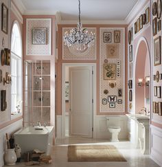 Stately lines and a color palette of creams, whites, and dusky pinks bring a unique charm to this southern, spa-like escape. Everyone has been daydreaming about their master bathroom remodel, so why not start here. Kohler delivers the inspiration with the products.