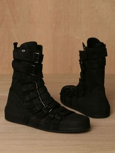 Demeulemeester AW11 Scamasciato boots in black