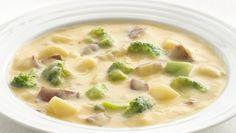 Healthified Cheesy Potato Chowder drastic reduc, sour cream, potato chowder, cheesy potatoes, cheesi potato, sat fat, broccoli soup, potato soup, green onions
