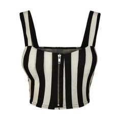 03c8d029cb Aurora Striped Bralet Crop Top ( 18) ❤ liked on Polyvore featuring tops