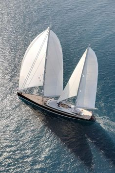 """Philippe Briand Created The Sailing Yacht that crowned French Decorator: Christian Liaigre turned into a floating Manhattan Penthouse: """"If every man is an island; every home is a yacht? Jet Ski, Yacht Design, Super Yachts, Catamaran, Yachting Club, Luxury Sailing Yachts, Christian Liaigre, Yacht Boat, Sailboat Yacht"""