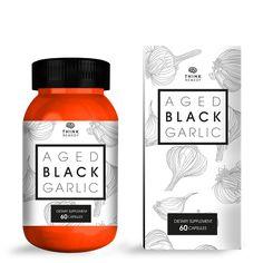 Think Remedy aged black garlic food packaging design