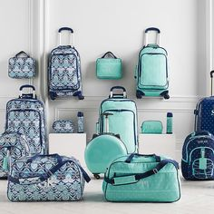 Travel in style with Pottery Barn Teen's teen luggage and duffle bags. Discover suitcases, duffle bags, and travel sets in statement prints that will be perfect for your next vacation or weekend trip. Teen Luggage, Cute Luggage, Luggage Sets, Travel Luggage, Travel Bags, Travel Items, Travel Gadgets, Travel Packing, Cute Suitcases