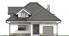 Elewacja frontowa projektu Maja Pool Designs, Home Fashion, Villa, Outdoor Structures, House Styles, Outdoor Decor, Home Decor, Dutch, Homes