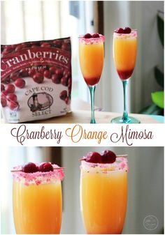 Cranberry Orange Mimosa's are a great way to begin and end a day with the girls, parties, dinners, and especially brunch! They're sunshine in a glass.