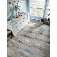 Armstrong Flooring Pryzm Waterfront x x Mixed SPC Luxury Vinyl Plank Chart House, Armstrong Flooring, Bedroom Flooring, Vinyl Flooring Bathroom, Bathroom Bench, Ikea Bathroom, Bathroom Colors, Luxury Vinyl Plank, Kitchen Flooring